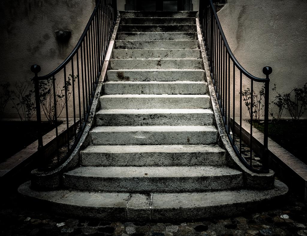 Historické venkovní schodiště