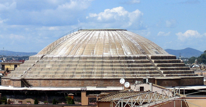 Kopule z litého betonu - Pantheon v Římě