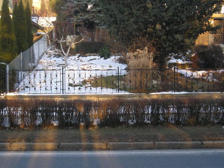 Moderní kovový plot