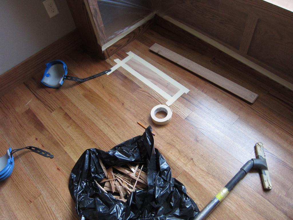 Podlaha s novou parketou