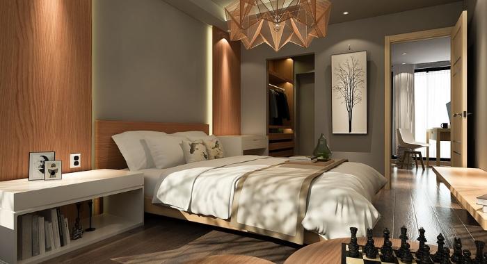 Moderně vymalovaná ložnice