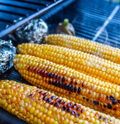 Grilovaná kukuřice bez obalu