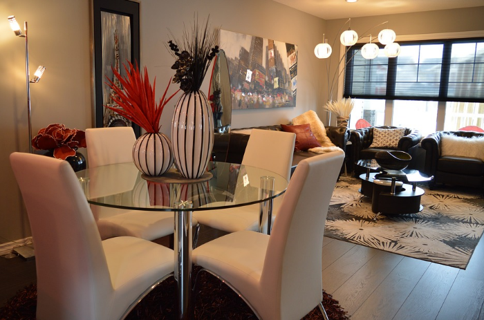Moderně vybavený obývací pokoj