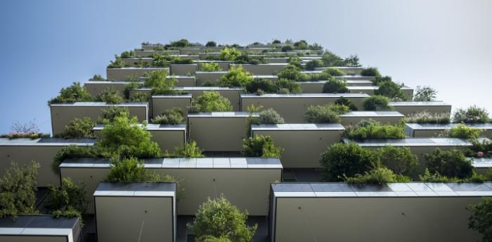 Zelené balkóny bytů