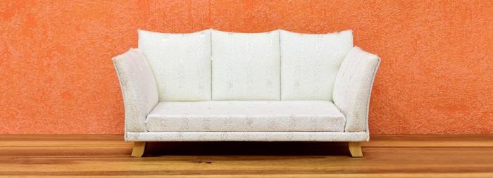 Stylová bílá sedačka