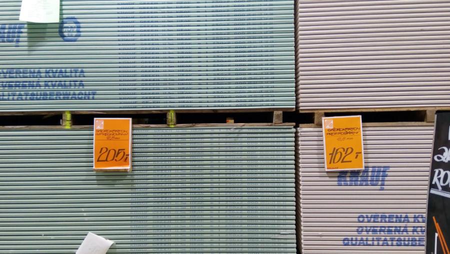 Sádrokarton - ceny