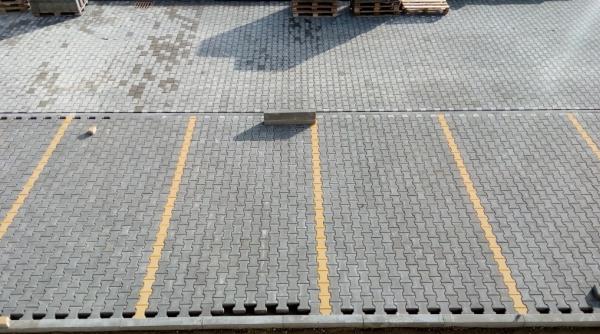 Zámková dlažba u parkování